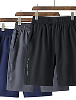"""cheap -Men's Hiking Shorts Summer Outdoor 10"""" Quick Dry Breathable Stretchy Sweat wicking Shorts Dark Grey Black Blue Hunting Climbing Running L XL XXL XXXL 4XL / Cooling / Plus Size"""