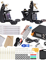 cheap -Solong Tattoo Professional Tattoo Kit Tattoo Machine - 2 pcs Tattoo Machines, Dynamics Adjustable / Safety / Universal Alloy 5 W Coil Tattoo Machine