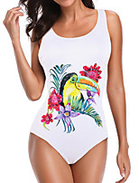 cheap -Women's One Piece Swimsuit Nylon Swimwear Bodysuit Breathable Quick Dry Sleeveless Swimming Surfing Water Sports Floral / Botanical Summer