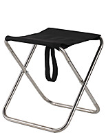 cheap -Camping Stool Multifunctional Portable Breathable Ultra Light (UL) Stainless Steel for 1 person Fishing Beach Camping Traveling Autumn / Fall Winter Black Grey