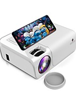 cheap -C50 Mini WiFi Projector 3800 Lux 1080P HD Projector 40,000 Hours Lamp Life with Synchronize Smartphone Screen, Compatible with TV Stick /HDMI/ TV Box/PS 4