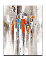 cheap -Oil Painting Hand Painted Vertical Abstract People Modern Rolled Canvas (No Frame)