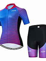 cheap -women cycling jersey set +5d padded bicycle shorts shirt quick-dry reflective 3-pockets s-3xl