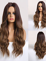 cheap -Synthetic Wig Deep Wave Middle Part Wig Medium Length A15 A16 A10 A11 A12 Synthetic Hair Women's Cosplay Party Fashion Brown