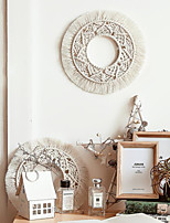 cheap -Boho Dream Catcher Handmade Gift Wall Hanging Decor Art Ornament Craft Woven Macrame Circle 25*25cm for Kids Bedroom Wedding Festival