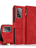 cheap -Phone Case For Samsung Full Body Case Wallet Card Galaxy A91 / M80S A51 A70 Samsung Galaxy A50 A50s Galaxy A81 / M60S A71 5G Galaxy A71 Galaxy A70s A51 5G Wallet Shockproof with Stand Solid Colored