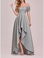 cheap -Women's Swing Dress Maxi long Dress Gray Short Sleeve Solid Color Spring Summer Elegant 2021 S M L XL XXL 3XL 4XL 5XL 6XL 7XL
