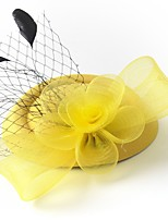 cheap -Lady Retro Tulle / Net Fascinators with Feather / Floral 1 Piece Special Occasion / Party / Evening Headpiece