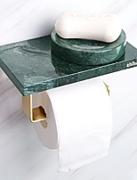 cheap -Perforated Wall-mounted Marble Paper Towel Holder Creative Bathroom Toilet Paper Holder
