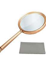cheap -Handheld Magnifying Glasses 5X Reading Magnifier with Shatterproof Metal Handle & 84mm Large Magnifying Real Glass Lens for Seniors and Kids Book and Newspaper Reading, Repair and Observation