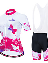 cheap -Women's Short Sleeve Cycling Jersey with Shorts Pink+White Animal Bike Breathable Sports Graphic Clothing Apparel / Micro-elastic / Athleisure