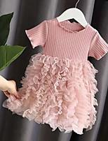 cheap -2020 summer new children's clothing girls baby dress princess gauze skirt western fluffy stitching cake skirt summer dress