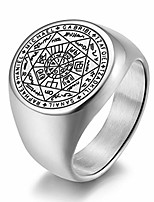 cheap -inreng men's women's stainless steel the seals of the seven archangels ring protection amulet jewelry silver size 7