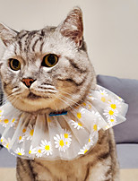 cheap -Dog Cat Bandanas & Hats Lace Daisy Elegant Adorable Cute Dailywear Casual / Daily Dog Clothes Puppy Clothes Dog Outfits Breathable Yellow Costume for Girl and Boy Dog Polyester S M