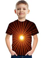cheap -Kids Boys' Tee Short Sleeve Graphic Children Tops Active Orange