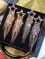 cheap -Women's Drop Earrings Tassel Fringe Star Stylish Classic Imitation Diamond Earrings Jewelry Gold / Silver For Party Evening Date Festival 1 Pair