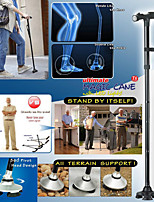 cheap -Adjustable Foldable Trekking poles Walking Cane with LED Flashlight | 360 Degree Roller Walk Stick Premium Foam Handle & Wrist Strap Polished Sleek Scratch-Resistant Anodized Aluminum