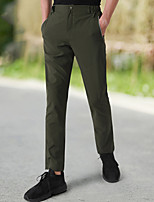cheap -Men's Hiking Pants Trousers Solid Color Summer Outdoor Tailored Fit Waterproof Quick Dry Breathable Wear Resistance Bottoms Black Army Green Khaki Dark Navy Hunting Fishing Climbing S M L XL XXL