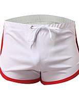 cheap -Men's 1 PC Basic Boxers Underwear / Briefs Underwear Low Waist Light Blue White Black M L XL