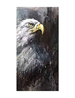 cheap -Oil Painting Hand Painted Vertical Abstract Animals Modern Rolled Canvas (No Frame)