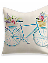 cheap -1 pcs Linen Pillow Cover, Holiday Square Zipper Polyester Traditional Classic