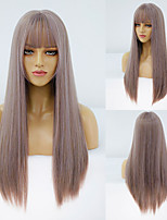 cheap -Synthetic Wig Straight Neat Bang Wig Medium Length A10 A11 A1 A2 A3 Synthetic Hair Women's Cosplay Party Fashion Purple