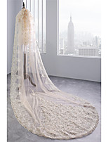 cheap -One-tier Cute Wedding Veil Cathedral Veils with Embroidery 39.37 in (100cm) Lace