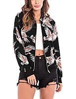 cheap -Women's Print Sporty Floral Fall Coat Regular Training Long Sleeve Cotton Coat Tops Gradient