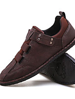 cheap -Men's Oxfords Business Casual British Daily Walking Shoes PU Breathable Non-slipping Wear Proof Black Brown Fall Spring