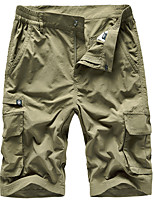 "cheap -Men's Hiking Shorts Solid Color Summer Outdoor 12"" Regular Fit Multi-Pockets Breathable Soft Comfortable Shorts Dark Grey Army Green Khaki Hunting Fishing Climbing M L XL XXL XXXL"