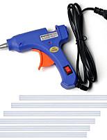 cheap -110-240V Hot Melt Glue Gun Mini Gun Thermo Electric Heat Temperature Tool DIY Glue Gun Repair Set with 6 Glue Stick