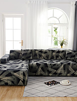 cheap -Sofa Cover Contracted Dark Gray Print Dustproof Stretch  (You will Get 1 Throw Pillow Case as free Gift)