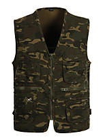 cheap -Men's Fishing Vest Outdoor Multi-Pockets Quick Dry Lightweight Breathable Vest / Gilet Autumn / Fall Spring Fishing Photography Camping & Hiking Camouflage / Cotton / Sleeveless / Camo / Camouflage