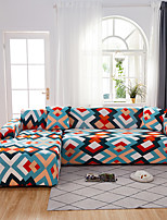 cheap -Colorful Geometric Print Bohemian Dustproof All-powerful Slipcovers Stretch L Shape Sofa Cover Super Soft Fabric Couch Cover with One Free Pillow Case