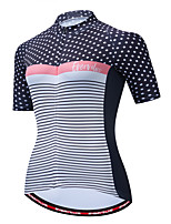 cheap -Women's Short Sleeve Cycling Jersey Blue+Orange Green Black+White Bike Jersey Breathable Sports Clothing Apparel / Micro-elastic / Athleisure