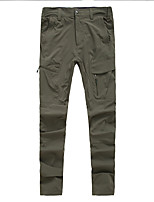 cheap -Men's Hiking Pants Trousers Solid Color Summer Outdoor Tailored Fit Waterproof Ultra Light (UL) Antistatic Quick Dry Nylon Spandex Pants / Trousers Black Army Green Grey Hunting Fishing Climbing M L