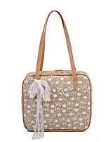 cheap -Women's Bags Top Handle Bag Daily Straw Bag Handbags White Khaki