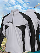 cheap -Women's Men's Fishing Jacket Skin Coat Outdoor UPF50+ Quick Dry Lightweight Breathable Jacket Spring Summer Fishing Camping & Hiking Cycling / Bike White Black Gray / Long Sleeve / Stretchy