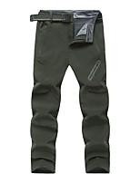 cheap -Men's Hiking Pants Trousers Winter Summer Outdoor Regular Fit Waterproof Windproof Warm Quick Dry Pants / Trousers Black Army Green Ski / Snowboard Fishing Camping / Hiking / Caving XL XXL XXXL 4XL