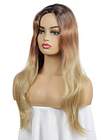 cheap -Synthetic Wig Curly Middle Part Wig Medium Length Dark Brown Synthetic Hair Women's Cosplay Party Fashion Blonde Brown
