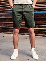 "cheap -Men's Hiking Shorts Hiking Cargo Shorts Solid Color Outdoor 10"" Breathable Multi-Pockets Wear Resistance Cotton Shorts Dark Grey Light Tan Black Red Burgundy Hunting Fishing Climbing 28 29 30 36 38"