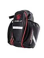 cheap -water bottle bag waterproof rear under seat bike saddle bag double bottle pouch bicycle tail pocket with reflective strip for mtb mountain city road bike water bottle (black-red)