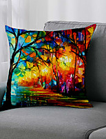 cheap -Double Side 1 Pc Botanical Cushion Cover  Print 45x45cm Linen for Sofa Bedroom
