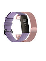 cheap -Smart Watch Band for Fitbit 2 PCS Sport Band Business Band Stainless Steel Silicone Replacement  Wrist Strap for Fitbit Charge 3
