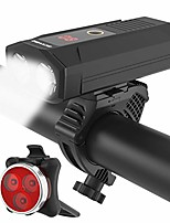 cheap -usb rechargeable bike light set, super bright 1200 lumen wide angle view bicycle lights free tail light,easy to install bike front and back rear lights,cycling headlight safety flashlight