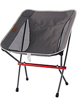 cheap -Camping Chair Multifunctional Portable Breathable Ultra Light (UL) Aluminum Alloy for 1 person Fishing Beach Camping Autumn / Fall Winter Black Grey