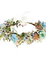 cheap -Fabric Simulation Rose Bridal Wreath Hair Band Holiday Photo Headwear