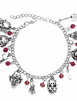 cheap -jason mask charm bracelet horror scary movie bracelet ghost halloween jewelry gift silver