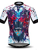 cheap -men's cycling jersey short sleeved outdoor pro biking riding clothing mountain bicycle jerseys breathable skull t- shirt tops
