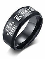 cheap -oidea stainless steel her king ring bands for him promise black,black,size 12